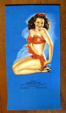 1940s Pin Up Picture Girl Calendar by Billy DeVorss Cute Brunette w Red Ribbon M