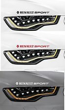 2 X RENAULT SPORT-Faros-COCHE DECAL STICKER ADHESIVO CLIO - 300mm de largo