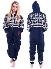 Ladies Women's One Piece Onesie Hoodie Hoody Printed Jumpsuit Playsuit Tracksuit