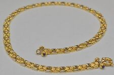 18k Solid gold XOXO Hugs and Kisses Fancy Necklace Chain 17.5 Inches