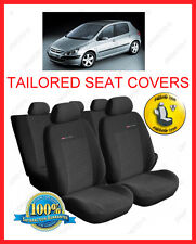 Tailored seat covers for Peugeot 307  Full set grey1