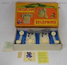 INGAP Coppia Telefoni Giocattolo INTERCOM TELEPHONE Vintage60/70 Old Toy Box-1CH