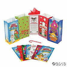 24 Religious HOLIDAY CHRISTMAS PAPER GIFT BAG ASSORTMENT ~HUGE LOT NEW~ NICE