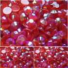 Christmas Red AB Flat Back Resin Rhinestone gems 14 facets-cards/scrapbooking