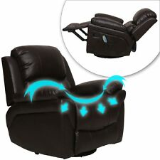 New Full Body Shiatsu Massage Chair Recliner Brown With Heat Stretched Foot