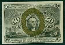 50¢ Fractional Currency, w/surcharge 1863 & A, Fr. #1317, Choice Unc