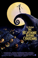 Tim Burton's The Nightmare Before Christmas 1993 Movie Poster 24x32