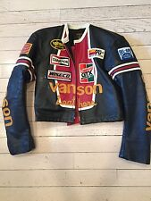 Vanson Leather Racing Jacket Size 38