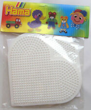HAMA MIDI BEADS - LARGE HEART & HEXAGON SPARE PEGBOARDS - NEW!!