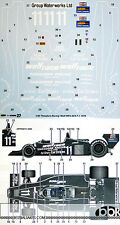 STUDIO 27 1/20 WOLF WR3 THEODORE RACING AFX F-1 1979 EARLY VER DECAL for TAMIYA