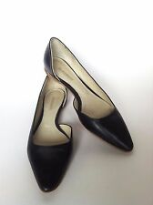 JIL SANDER BALLET FLATS BALLERINAS ALL LEATHER DARK NAVY SIZE 37 UK 4 EXC.COND.