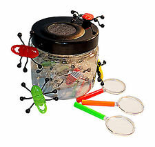 Bug Tub,Magnifying Glass Set, Including Bug Jar,Habitat & Plastic Insects 21pcs