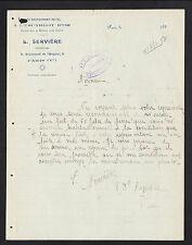 """PARIS (V°) HOTEL RESTAURANT CAFE """"A L'ESCARGOT D'OR / L. SERVIERE"""" en 1933"""