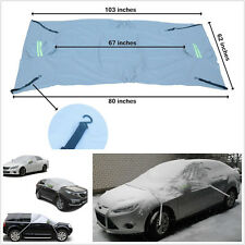 Waterproof Silver Car Windscreen&Rear View Mirror Protector Snow Sun Shade Cover