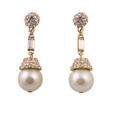 E757 Betsey Johnson Brides Bridesmaid Wedding Accessories Drop Pearl Earrings US