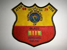 "US Navy ATSB GO DAU HA 69-70 MEKONG DELTA ""SUPPORT FOR BOATS OF GLASS"" War Patch"