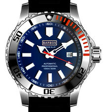 BARBOS MARINE BLUE AUTOMATIC 3300ft/1000m MENS DIVER WATCH  (US).