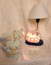 Child's Noah's Ark Nursery Table Lamp Bookends Bank Switch PlateColorful Animals