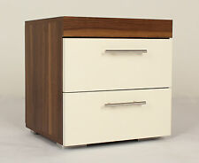 White Bedside Table Modern Bedroom Cabinet 2 Drawers Nightstand Wooden Furniture
