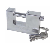90mm Steel Shutter Padlock Heavy Duty High Security Garage Shed Container New