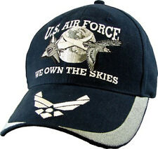 "U.S. Air Force Insigna Hat - USAF ""We Own The Skies"" Baseball Cap 5673"
