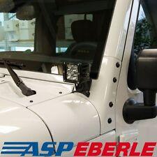 Halter f. Scheinwerfer am Scheibenrahmen single LED Jeep Wrangler JK 07-16