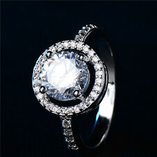 Gemma Solitaire Ring Silver Plated Crystals bridal High Quality Gift Beautiful
