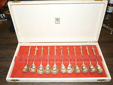 11 OLD DUTCH SILVER 833 Silver Spoons Religious Figure,HOLLAND 121.59 GRAMS