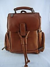 Claire Chase Small Uptown Leather Zipper Laptop Backpack, Computer Book Bag