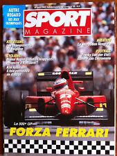 SPORT MAGAZINE du 20/08/1992; Forza Ferrari/ Franky Van Der Elst/ Kim Andersen