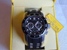 Invicta 50mm Titanium TI-22 Black Carbon Fiber Dial Chronograph Quartz Watch