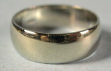 Vintage 14K Solid White Gold Wedding Band Ring, 4.8g, Size 7.25, Man or Woman