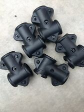 6 Tube To Tube T-Clamps for Electronic Drum Kit Rack. Alesis Yamaha Roland 1.5""