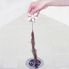 2X DRAIN WIG DrainWig Bathroom/Shower Chain Cleaner Hair Catcher Durable