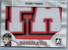 Robby Fabbri 2014 ITG Heroes And Prospects Draft Nameplate Jumbo Patch Card /6
