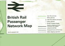 original British Rail Passenger Network Map January 1971