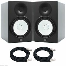 "YAMAHA HS8 POWERED STUDIO MONITOR   PAIR  , 8"", 2-Way, 120W - Free XLR Cable x 2"