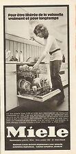 Publicité 1972  Lave vaisselle MIELE .