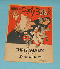 vintage Halloween WEENY-WITCH PARTY BOOK Christman's Wieners masks decorations