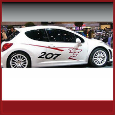 Autocollant/sticker/pages étiquette/décor/peugeot rc 207/#020