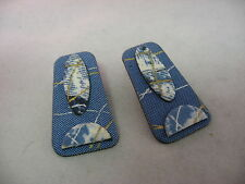 Very Cool Blue Fabric Artistic Womans Earrings Jewelry