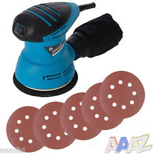 DIY 240W Random Orbit Sander 125mm And 20 Hook & Loop Discs Punched 40 &180 Grit
