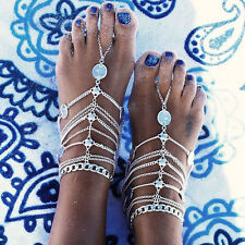 2016 Fashion Summer Boho Retro Tassel Chain Anklet Barefoot Sandals Foot Jewelry