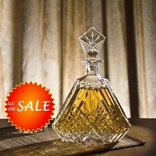 Crystal Whiskey Decanter Liquor Wine Glass Bottle Scotch Bar Set Home Decor Gift