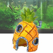 13cm Aquarium Spongebob Squarepants Pineapple House Fish Tank Ornament Home Deco