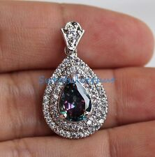 18K White Gold Filled - Waterdrop MYSTICAL Topaz Crystal Elegant Women Pendant