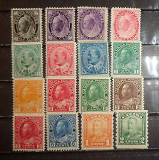 lot early Canada stamp mint OG