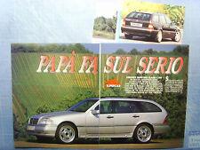 AUTO996-RITAGLIO/CLIPPING/NEWS-1996-MERCEDES CLASSE C SW LORINSER- 3 fogli