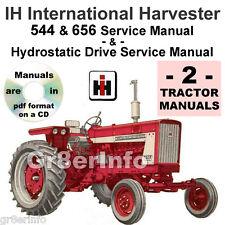 IH International 544 656 TRACTOR SHOP & Hydrostatic Drive SERVICE -2- MANUALS CD