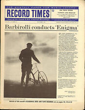 RECORD TIMES NEWSPAPER 1963 11 NOVEMBER barbirolli/richter/tortelier/pretre/etc